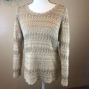 Dana Bachman M tan knit sweater